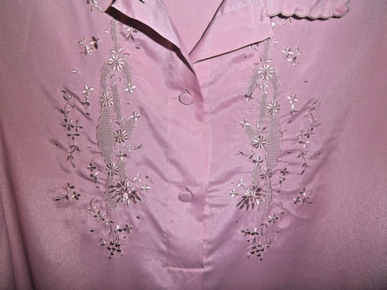 Vintage 1980's Christian Dior Size S Lilac Night … - image 4