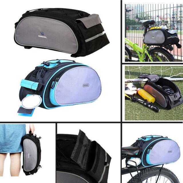 Roswheel Cycling Bicycle Frame Bag Seat Bike Rear Tail Rack Pannier Handbag Pack