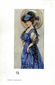 My-Wife-by-Lionel-Heath-Hill-Modern-Miniatur-Painting-Kunstdruck-v-1908
