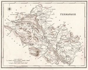 Map Of N Ireland.Details About Map Of County Fermanagh N Ireland