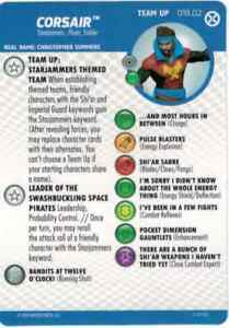 HEROCLIX X-Men House of X Team Up Card 018.02 CORSAIR Starjammers Themed Team