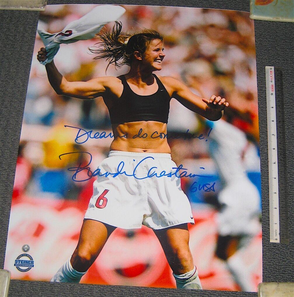 Brandi Chastain inscriptos  que  Oficial Copa Mundial 16x20 Poster Foto Steiner