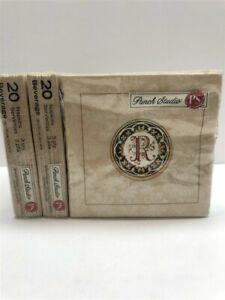 Lot of 3 Punch Studio Monogram Beverage Napkins 83202R, Letter R (20 per Set )
