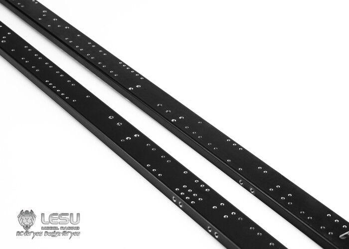 CNC Metal Chasis Riel Set Para RC 1 14 lesu Camión Scania 66 Volquete Hazlo Tú Mismo Modelo