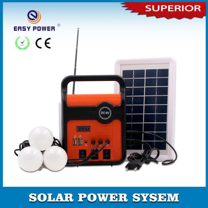 Radio con Panel Solar - Luz LED y Kit de Bombillas
