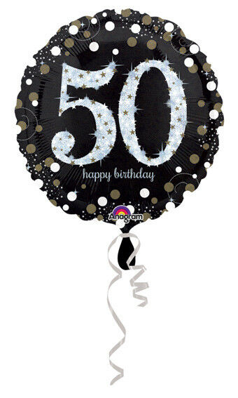 50th Birthday Decorations Party Supplies 50 Yrs Old Mylar 18 Balloon Sparkling