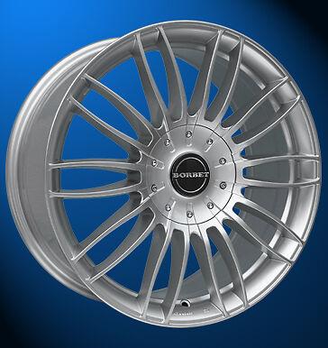 4x NEUE Borbet CW3 7.5 X 18 Zoll Alufelgen LK 6 X 130 ET 50 sterling silver