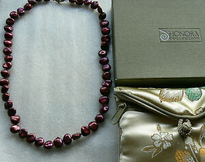 Honora-8-9-MM-Keishi-Pearls-Cherry-Red-45cm-Necklace-Sterling-silver