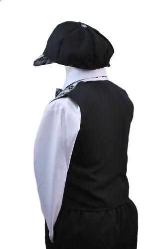New Baby Boy /& Toddler Formal Eton Checks Formal Vest Suit New born to 4T black