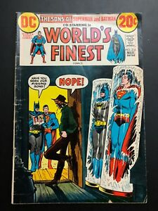 WORLD-039-S-FINEST-216-1973-DC-Comic-THE-SONS-OF-SUPERMAN-AND-BATMAN