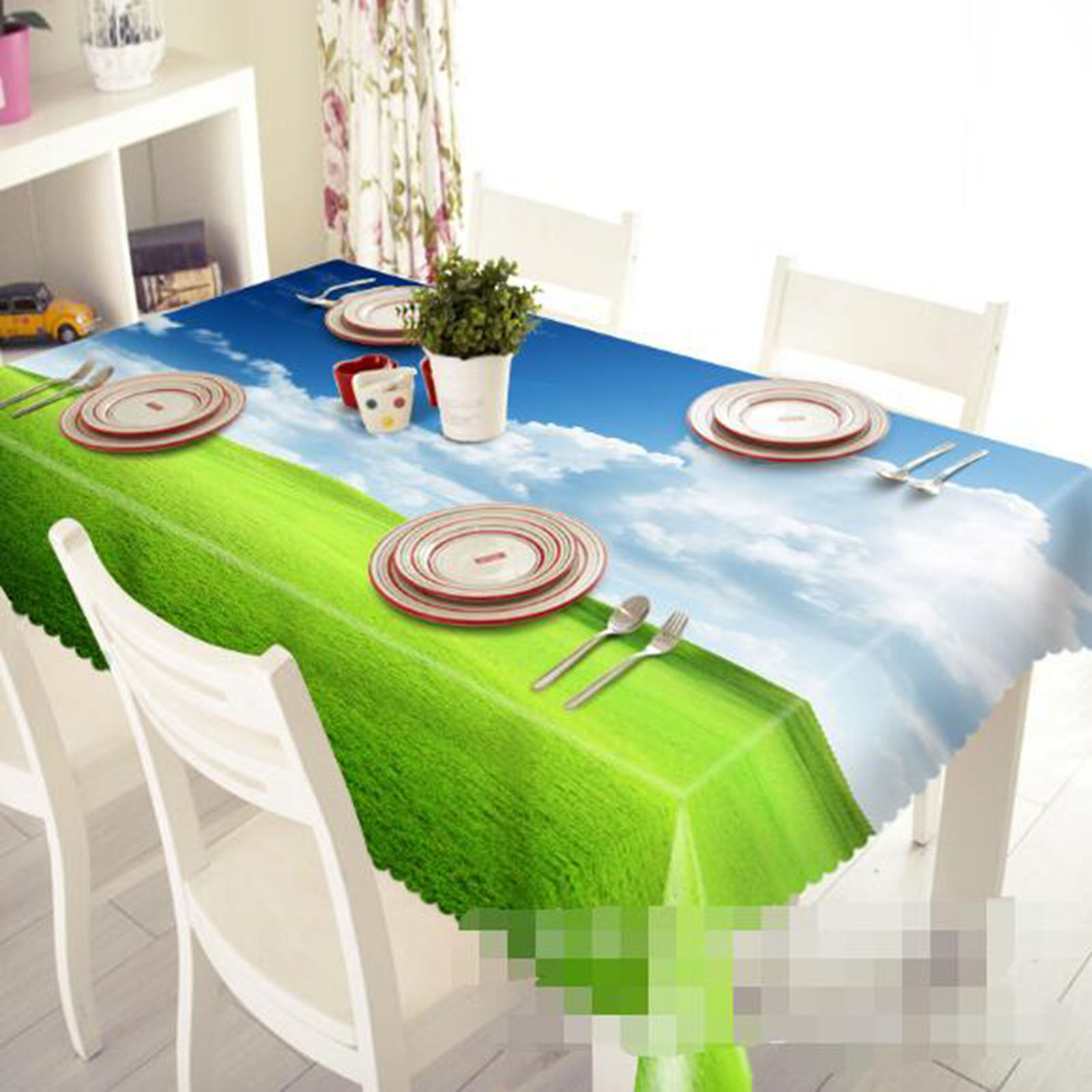 3D Meadow 404 Tablecloth Table Cover Cloth Birthday Party AJ WALLPAPER UK Lemon