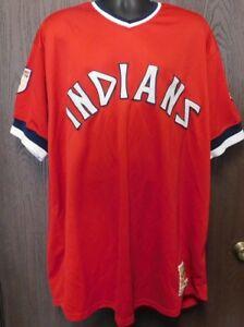 timeless design 991bd 3ff46 Details about Cleveland Indians Mitchell & Ness Cooperstown Jersey Sz 58