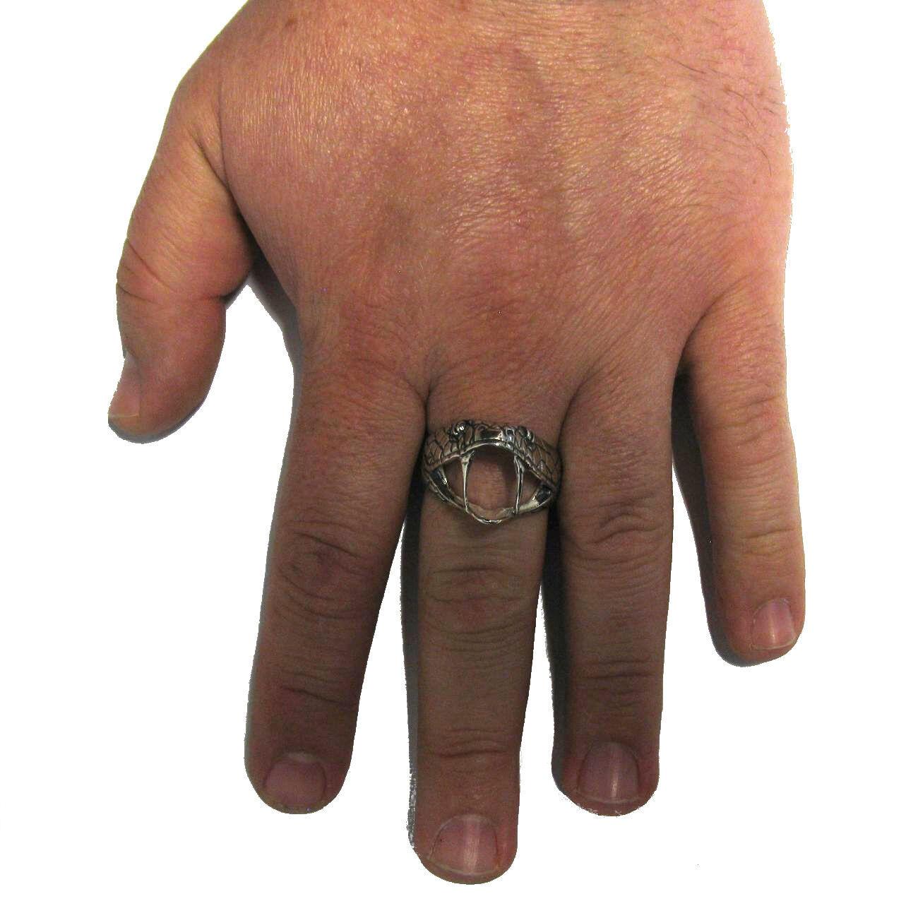 Sterling Silver biker ring Solid 925 SERPENT R000773 EMPRESS