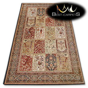 Natural Wool Agnella Rugs Black Mosaic Quot Isfahan Quot Thick And