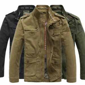 New-Jeep-rich-Men-039-s-Outdoor-Autumn-Cotton-Blend-Zipper-Warm-Coat-Jacket-Outwear