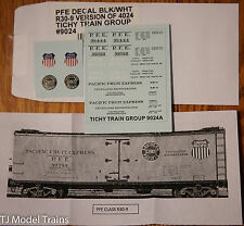 Tichy Train Group #9024 Railroad Decal Set -- Pacific Fruit Express R30-9 Ice Re