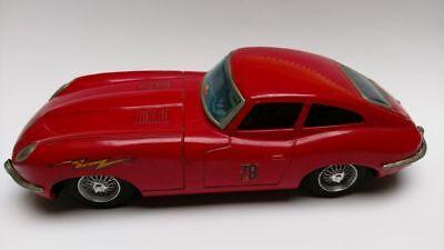 27 Cm Lang Exquisite In Verarbeitung Jaguar E Type Blech Mit Batteriebetrieb 70er Jahre