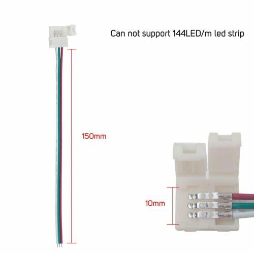 3Pin 10mm RGB LED Leiste Verbinder Adapter Stecker Steckverbinder Für WS2812B