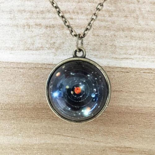 Unique Univers Galaxie Système Solaire Star Collier Pour Femmes//Hommes Pull decora