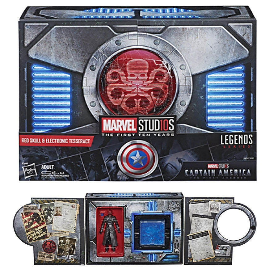(en Mano) Marvel Legends 10th rosso Skull & Electronic teseracto Sdcc 2018 Nuevo