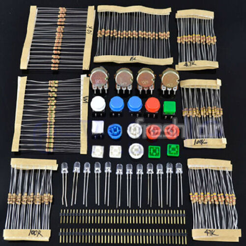 Electronic Parts Pack KIT for ARDUINO component Resistors Switch Button WT