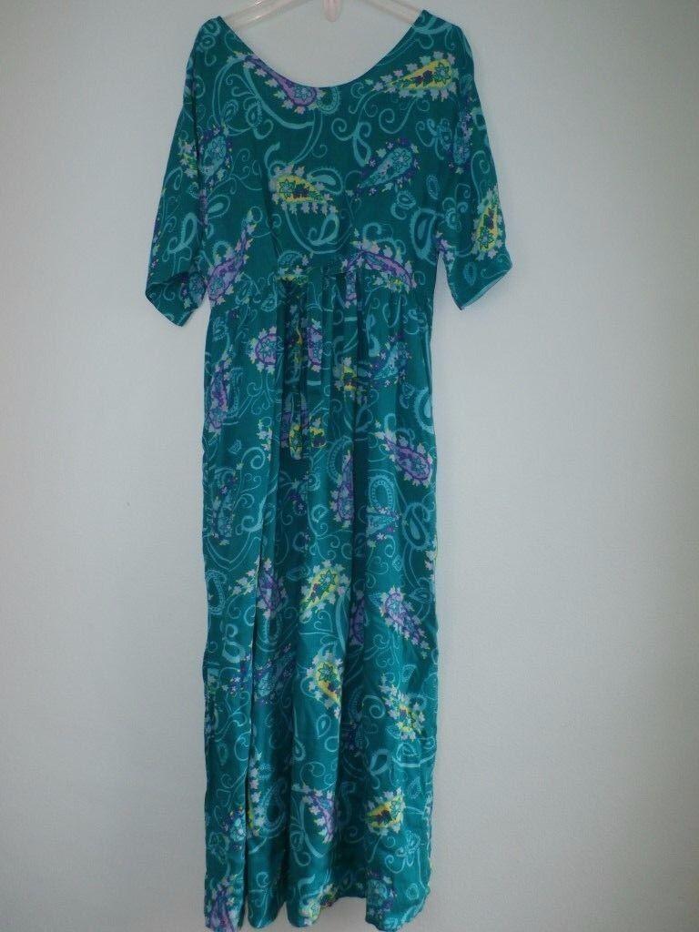 Diane Von Von Von Furstenberg Dress SM Med color Authority Vintage 1990s DVF Paisley caf592