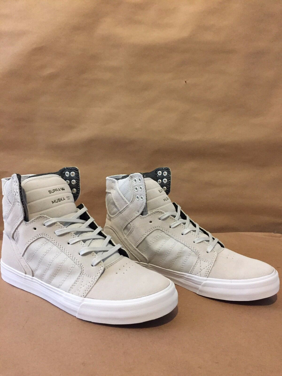 08175-042-M Supra Skytop Signature Chad Muska Light Grey/White Sizes 7-12 NIB
