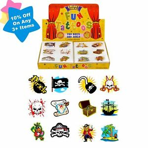 72-Childrens-Pirate-Temporary-Tattoos-Kids-Loot-Party-Bag-Fillers-Boys-Girls