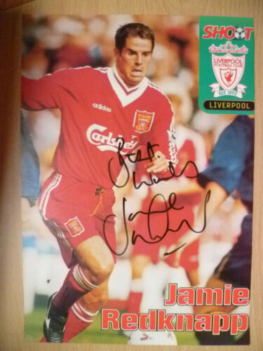 100% Genuine Hand Signed Press Cutting of Liverpool FC Player JAMIE REDKNAPP