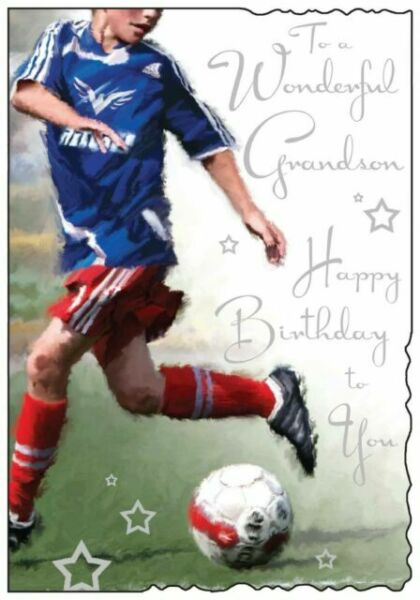 TO A WONDERFUL GRANDSON V10 JONNY JAVELIN VELVET VW CAMPER BIRTHDAY CARD