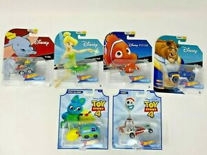 Hot-Wheels-Disney-Character-Cars-New-in-Packaging-Various-Characters