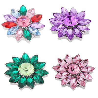 Interchangeable Jewelry Accessory Inlay Crystal Snap chunk Jewelry Bn14