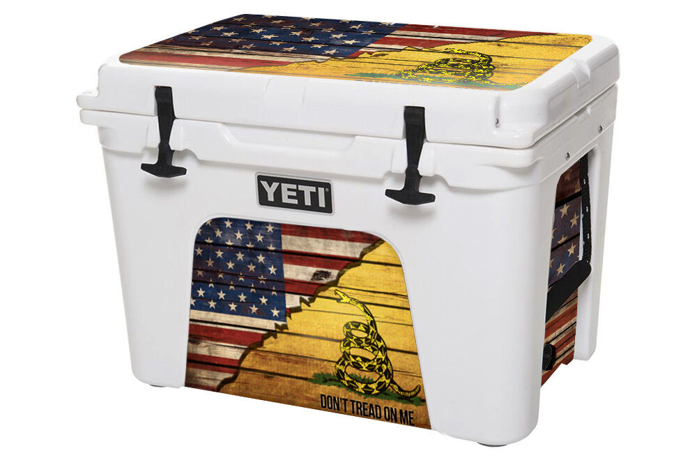 USATuff Cooler Decal Wrap fits YETI Tundra 110qt L+I USA Gadsden Split Tred