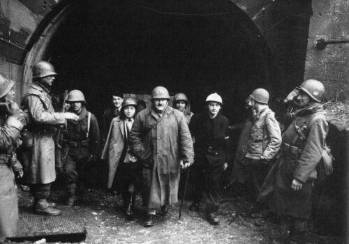Belfort 25.11.44 Le Général Chaillet WW2 cdt l/'artillerie de la 1° Armée