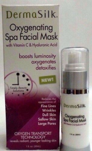 1 DermaSilk Oxygenating Spa Facial Mask W Vitamin C and Hyaluronic Acid 1 fl oz