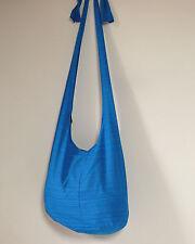 SAC A MAIN ETHNIQUE COTON BESACE BANDOULIERE ETHNIC SHOULDER BAG BLEU BLUE