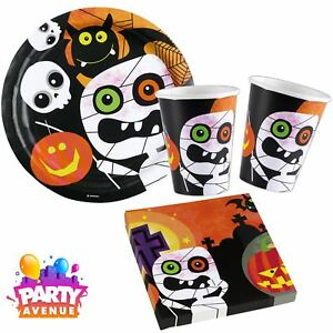 image is loading childrens halloween party tableware friendly mummy pumpkin plates