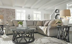 Sensational Details About Helena Traditional Living Room Sectional Gray Microfiber Fabric Sofa Couch Set Cjindustries Chair Design For Home Cjindustriesco