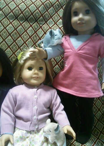 """Chinchilla Pet for 18/"""" American Girl like Dolls Accessories Play NEW White"""