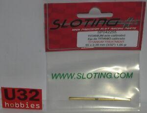 Kinderrennbahnen Sloting Plus Sp042255 Achse 55mm Stahl Mit Beschichtung Titan Achse 2.38mm Elektrisches Spielzeug