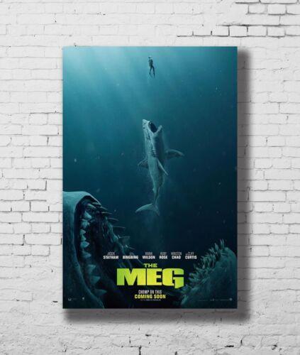 24x36 14x21 40 Poster The Meg Hot New 2018 Horror Movie Art Hot P-3986