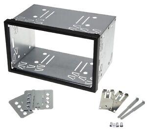 Auto-Radio-Blende-Halterung-Schacht-Rahmen-100mm-Doppel-DIN-ISO-universal-Metall