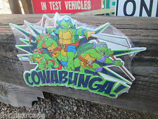 TMNT COWABUNGA  METAL SIGN VINTAGE LOOK VIDEO PINBALL COIN AMUSEMENT