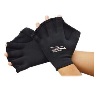 Neoprene-Quick-Fast-Paddle-Hand-Training-Paddle-Diving-Swim-Surf-Webbed-Gloves
