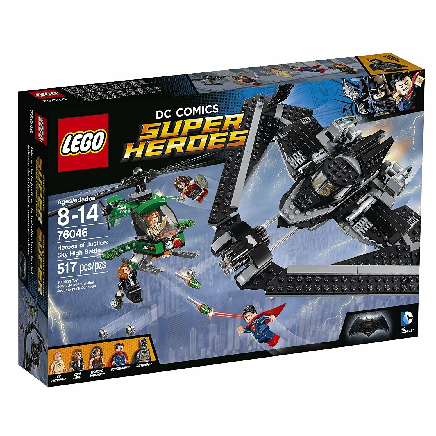 Lego Marvel Super Heroes 76046 HEROES OF JUSTICE SKY HIGH BATTLE Batman Superman
