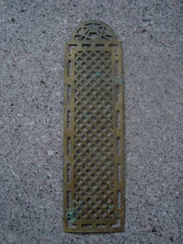 Vintage French Pierced Brass Finger Plate Door Push
