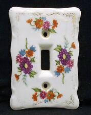 Vintage Porcelain Ceramic Light Switch Plate Cover Floral Japan