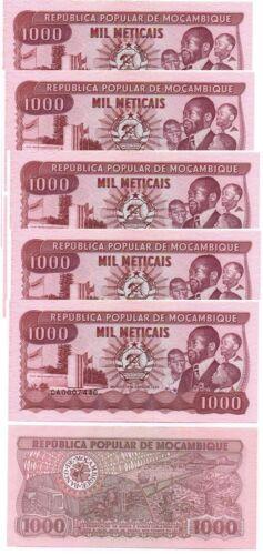 132c UNC Lemberg-Zp Mozambique 5 pcs x 1000 Meticais 1989 P