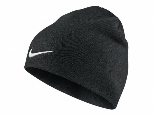18c56ca2c37 Nike Team Performance Beanie Black Hat White Tick Swoosh Adult Unisex Winter  for sale online