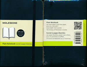 Moleskine-Soft-Cover-Plain-Pocket-Notebook-Black-NEW